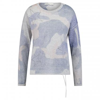 Pullover mit Camouflage-Muster blau (0545 blue blue) | 36