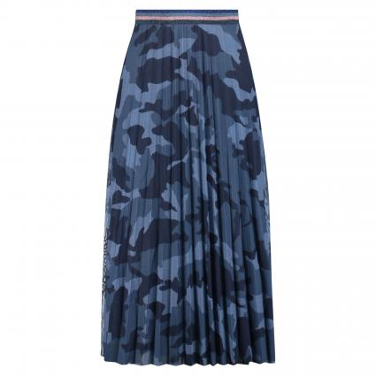 Rock mit All-Over Muster blau (0545 blue blue) | 36
