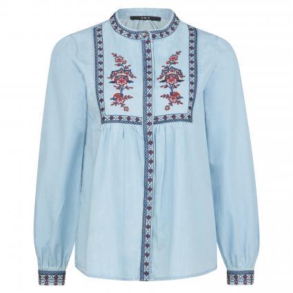 Bluse mit Musterung blau (5300 blue denim) | 38