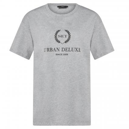 T-Shirt mit Glitzer-Print silber (9213 light grey)   38