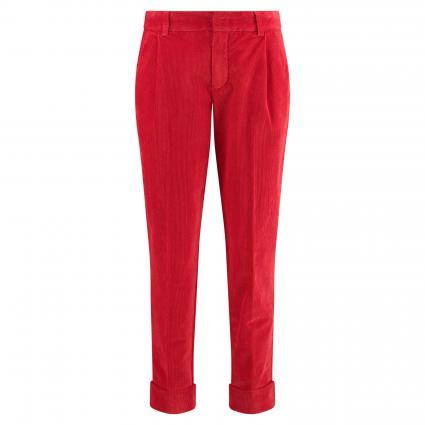 Cordhose mit Bundfalten rot (3620 red) | 38