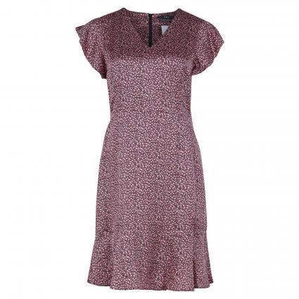 Kurzes Kleid mit Seidenanteil schwarz (0993 black red) | 34