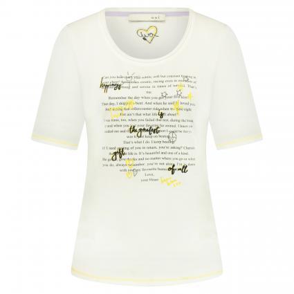 T-Shirt mit Print ecru (1006 cloud dancer) | 42