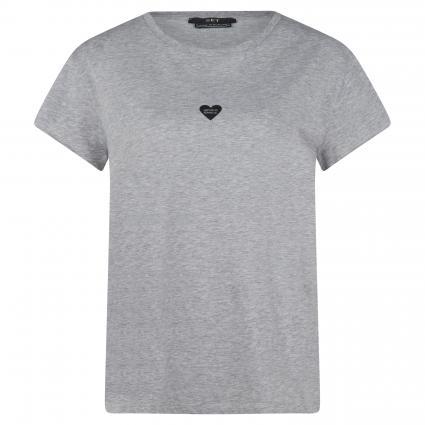 T-Shirt mit dezentem Print silber (9213 light grey) | 36