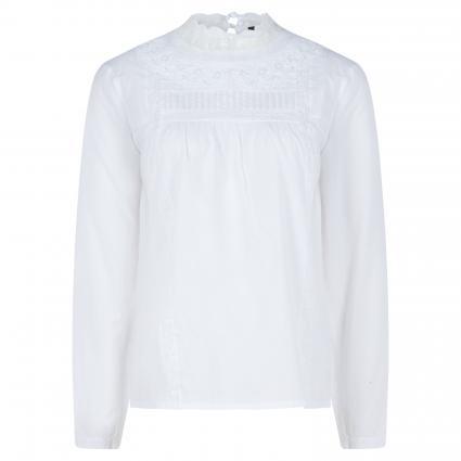 Casualbluse mit Spitzendetails weiss (1000 bright white) | 38
