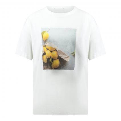 T-Shirt mit Print weiss (1000 bright white)   34
