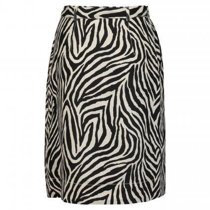 'Rock' in Zebra-Optik aus Leinen schwarz (0991 black offwhite)   36