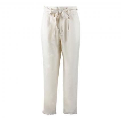 Highwaist-Hose mit Bundfalten weiss (1102 white swan)   34