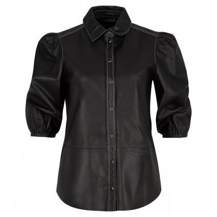 Bluse aus Leder schwarz (9990 black) | 34