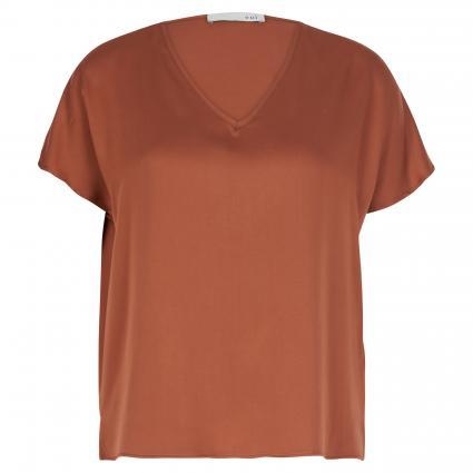 Fließende Bluse mit V-Ausschnitt braun (8256 sequoia) | 38