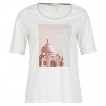 T-Shirt mit Steinchendetails ecru (1006 cloud dancer) | 40