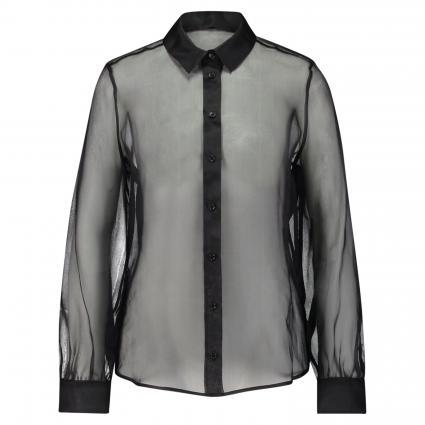 Transparente Seidenbluse schwarz (9990 black) | 38