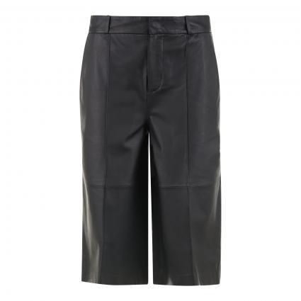 Bermuda aus Leder schwarz (9990 black) | 34
