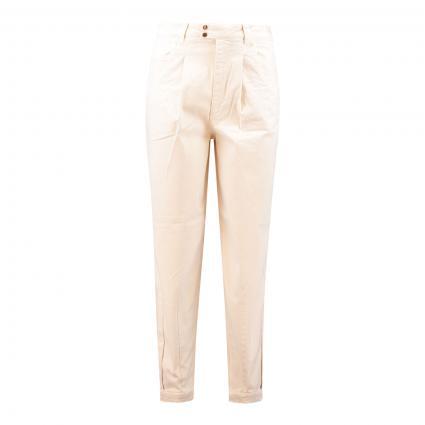 Slim-Fit Jeans mit Bundfalten weiss (1088 whitecap gray) | 38