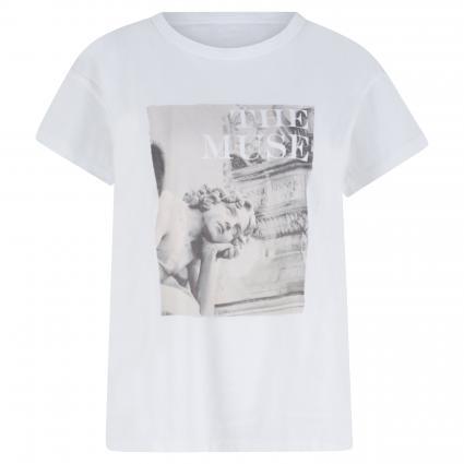 T-Shirt mit Foto-Print weiss (1000 bright white) | 40