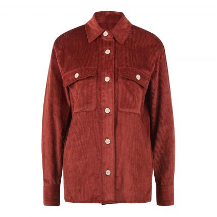 Jacke im Overshirt Style aus softem Breitcord cognac (8272 maroon) | 34