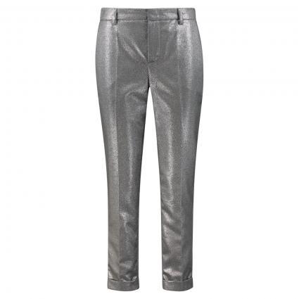 Hose mit Bügelfalte und All-Over Glitzerschimmer silber (0969 silver black)   40