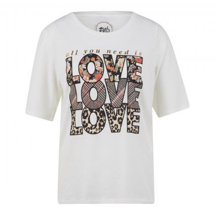 T-Shirt mit Zierelementen ecru (1006 cloud dancer) | 44