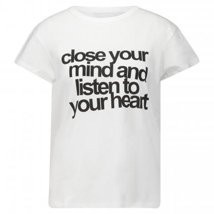 T-Shirt mit Wording weiss (1000 bright white) | 42