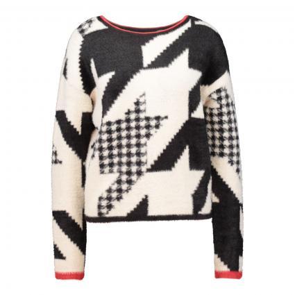 Pullover mit Hahnentritt-Muster schwarz (0991 black offwhite) | 38
