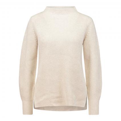 Pullover mit Stehkragen ecru (1045 offwhite melang) | 44