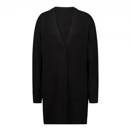 Strickjacke mit V-Ausschnitt schwarz (9990 black) | 38