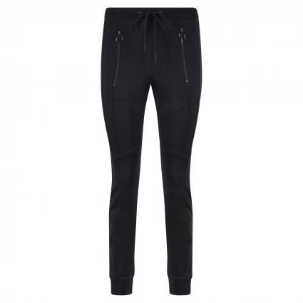 Schmale Hose mit Ziernähten schwarz (9990 black) | 42