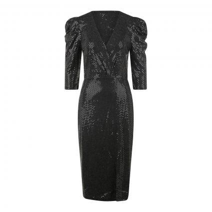 Kleid mit Paillettenbesatz silber (0969 silver black) | 42