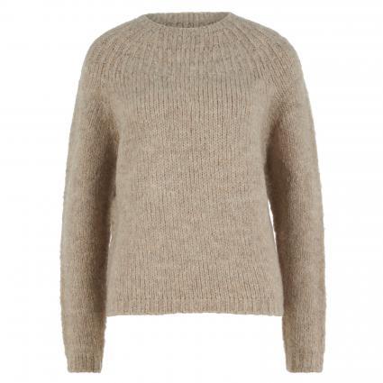 Pullover mit Stehkragen beige (7329 light stone) | 42