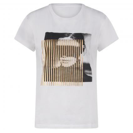T-Shirt mit Print weiss (1000 bright white) | 42