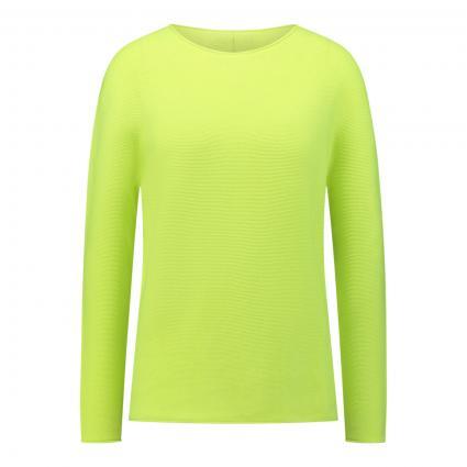 Pullover mit Rundhalsausschnitt gelb (2196 safety yellow) | 36
