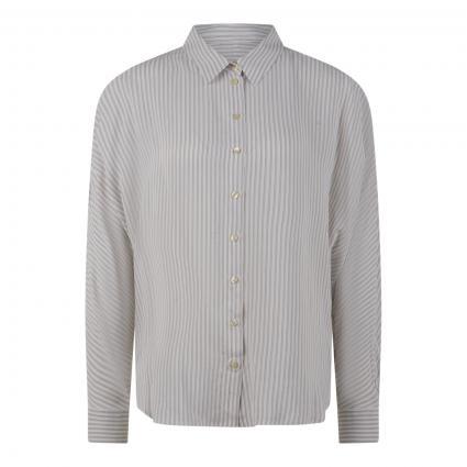 Bluse mit Streifen weiss (0109 white black) | 38