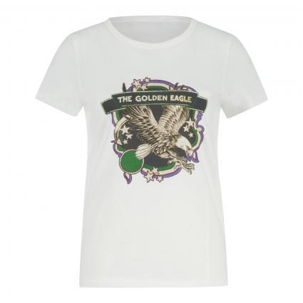 T-Shirt mit Print  ecru (1006 cloud dancer) | 38