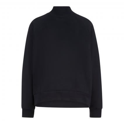 Loose-Fit Sweatshirt mit Stehkragen  schwarz (9990 black) | 40