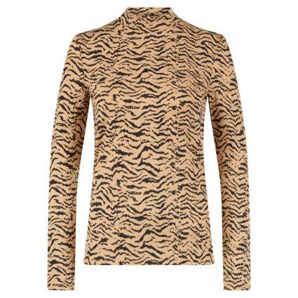 Langarmshirt mit Animal-Muster beige (0729 lt stone grey) | 38