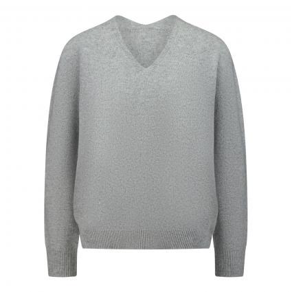 Strickpullover mit V-Ausschnitt grau (9283 grey) | 34