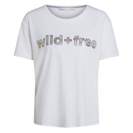T-Shirt mit Schriftzug ecru (1006 cloud dancer) | 36