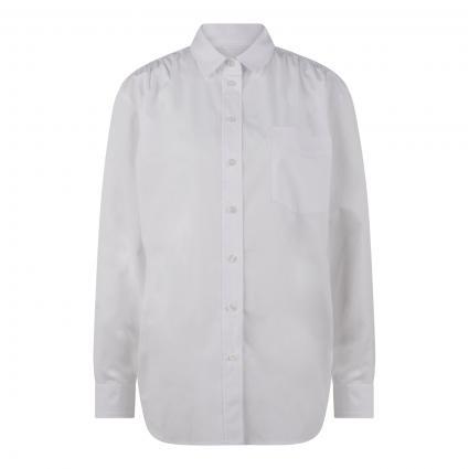 Bluse mit Brusttasche weiss (1000 bright white) | 34