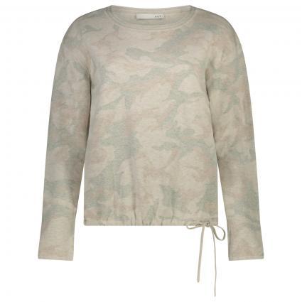 Pullover mit Musterung und Glitzer-Details  weiss (0109 white black) | 38