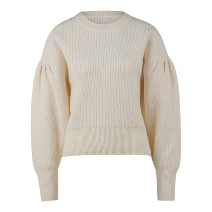 Pullover mit Ballonärmel aus softer Wollmischung ecru (1030 pristine) | 42