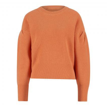 Pullover mit Ballonärmel aus softer Wollmischung orange (2766 coral gold) | 36