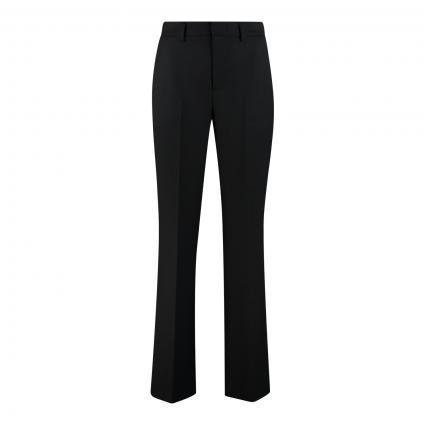 Weite Hose mit Bügelfalten schwarz (9990 black) | 38