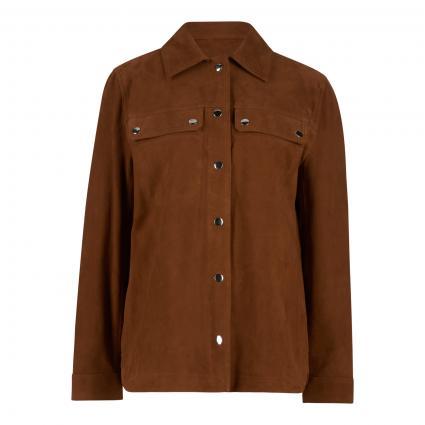 Lederjacke im Overshirt-Stil braun (8360 brown)   42
