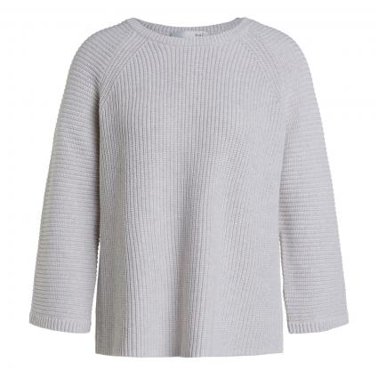 Pullover gestrickt in Kastenform ecru (1045 offwhite melang) | 42