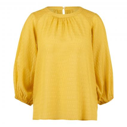 Bluse mit Strukturmuster  gelb (2358 yellow sun) | 34