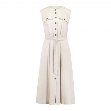 Kleid mit Knopfleiste  beige (7013 light stone) | 40