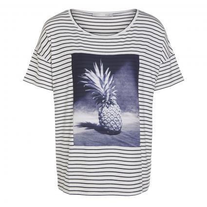 T-Shirt mit Ananas-Motiv weiss (0105 white blue) | 40