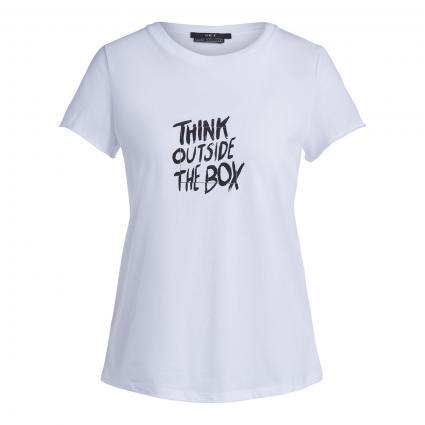 T-Shirt mit Statement-Print weiss (1000 bright white)   40