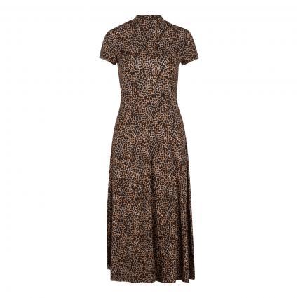 Kleid mit Leopardenmuster braun (0897 dk brown camel) | 36