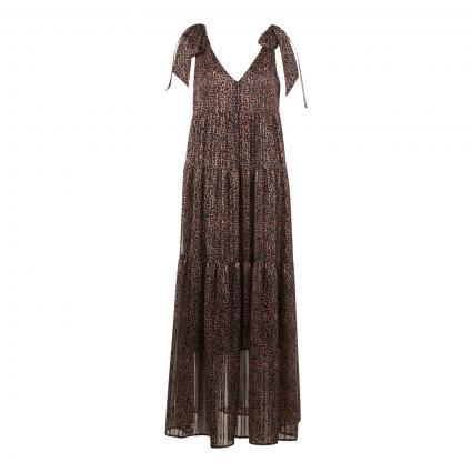 Kleid mit Leoparden-Muster braun (0897 dk brown camel) | 36